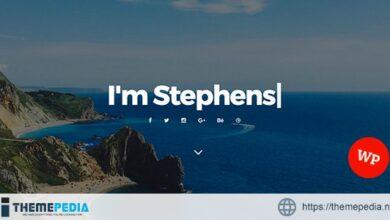 Stephens – Personal Portfolio WordPress Theme [Free download]