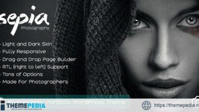 Sepia – Photography Portfolio WordPress Theme [Free download]