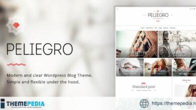 Peliegro – Clean Personal WordPress Blog Theme [Latest Version]