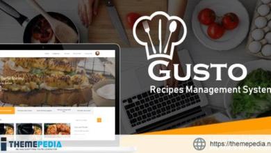 Gusto – Recipes Management System – [Download Torrent]