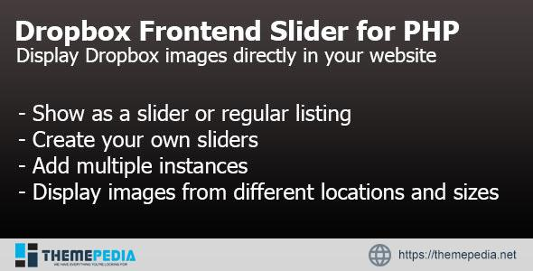 Dropbox Frontend Slider for PHP – [Codecanyon Scripts]