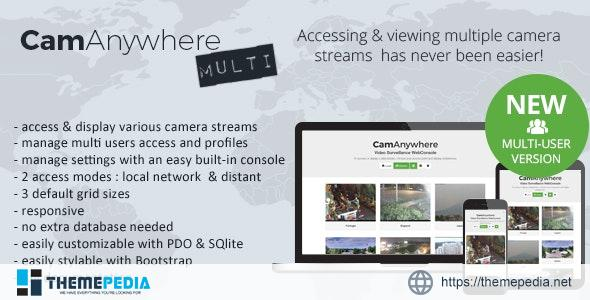 CamAnywhere Multi-user Video Camera Surveillance WebConsole – [Free Codecanyon Script download]