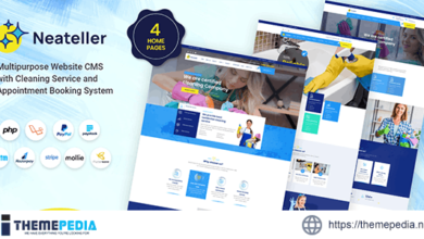 Neateller – Multipurpose Website CMS with Cleaning Service and Appointment Booking System – [100% Nulled Script]