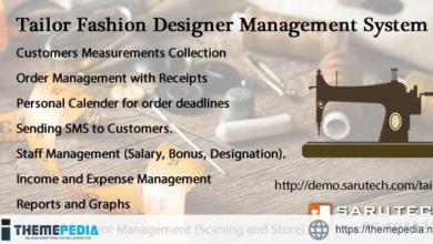TAILOR / FASHION DESIGNER MANAGEMENT SYSTEM – [Codecanyon Scripts]