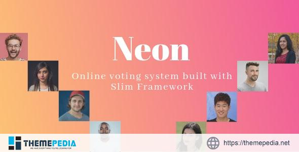 Neon – Online Voting System built with Slim Framework – [Free Codecanyon Script download]