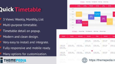 Quick Timetable For PHP – [Free Download]