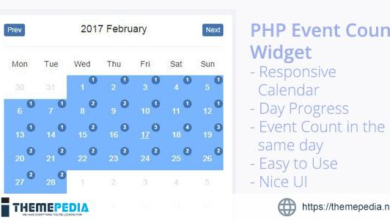 PHP Event Count Widget – [Free Codecanyon Script download]
