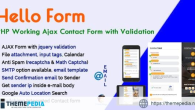 Hello Form – PHP Working Ajax Contact Form with Validation – [100% Nulled Script]