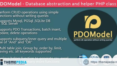 PDOModel – Database abstraction and helper PHP class – [Free Download]
