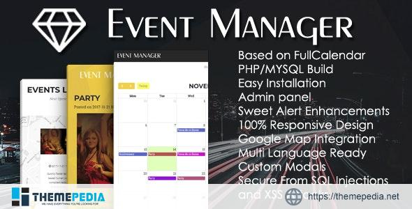 Event Manager PHP Script + Admin panel – [Free Codecanyon Script download]