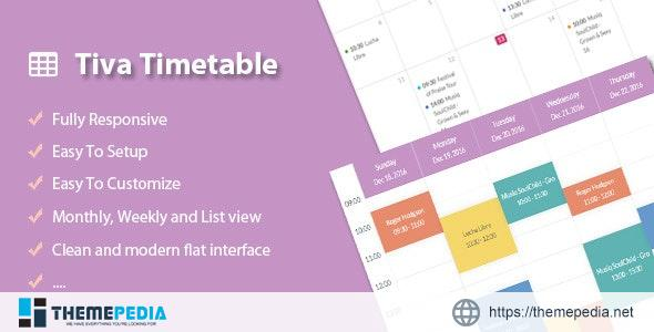 Tiva Timetable For PHP – [Free Codecanyon Script download]