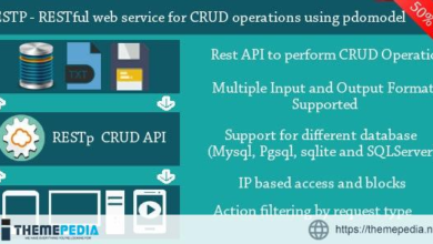 RESTp – RESTful web service for performing CRUD operations using PDOModel – [100% Nulled Script]
