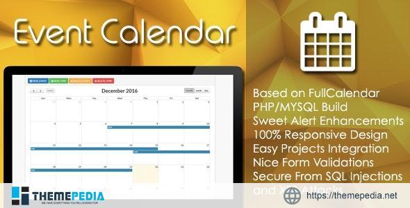 Event Calendar – PHP/MYSQL Plugin – [Free Download]