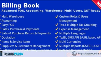 Billing Book -Advanced POS, Inventory, Accounting, Warehouse, Multi Users, GST Ready – [Free Codecanyon Script download]