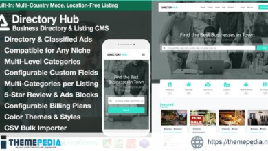 Directory Hub Listing & Business Directory CMS – [Free Download]