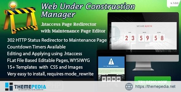 Web Under Construction Manager – Maintenance Page Builder and Redirector – [100% Nulled Script]