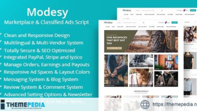 Modesy – Marketplace & Classified Ads Script – [Free Download]