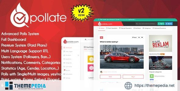 Pollate – Premium Polls and Voting Platform – [100% Nulled Script]