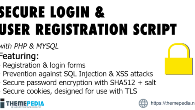 Secure Registration & Login User Management System with PHP & MySql – [Free Codecanyon Script download]