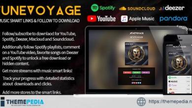 TuneVoyage – Smart Links & Follow To Download (Spotify/YouTube/Deezer/Soundcloud/Mixcloud) – [Free Codecanyon Script download]
