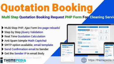 Quotation Booking – Multi Step Quotation Booking Request PHP Form For Cleaning Service – [Free Codecanyon Script download]