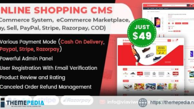 Online Shopping CMS (eCommerce System,  eCommerce Marketplace, Buy, Sell, PayPal, Stripe, COD) – [Codecanyon Scripts]