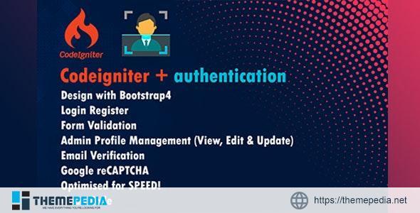 codeigniter authentication – [Download Torrent]