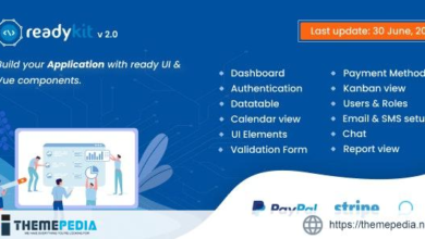 ReadyKit – Admin & User Dashboard Templates (with functionality) for Laravel + Vue App Development – [Free Codecanyon Script download]