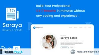 Soraya – Resume / CV CMS – [Download Torrent]