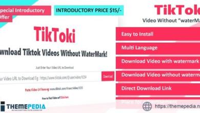 TikToki – TikTok Video Downloader – [100% Nulled Script]