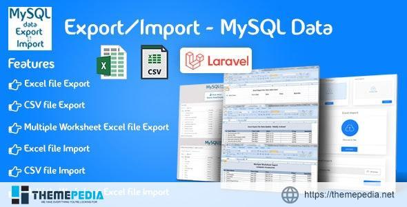 Export/Import – Laravel – [Free Download]