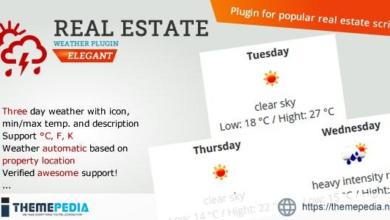 Real Estate Weather Widget – [Free Codecanyon Script download]