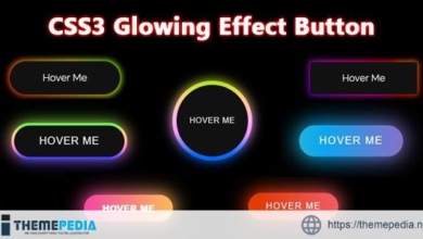 CSS3 Glowing Effect Button – [100% Nulled Script]