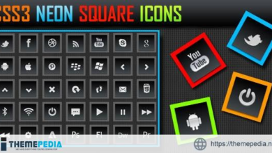 CSS3 Neon Square Icons – [100% Nulled Script]
