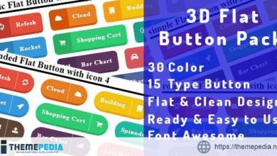 3D Flat Button Pack – [Download Torrent]
