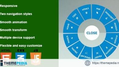 Responsive CSS3 Circular Navigation – [100% Nulled Script]