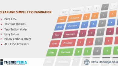 Clean colorful and Simple CSS3 Pagination – [100% Nulled Script]