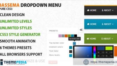 Bassema Clean CSS3 Dropdown menu – [Free Codecanyon Script download]