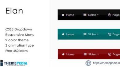 Elan – CSS3 Responsive Dropdown Menu – [100% Nulled Script]