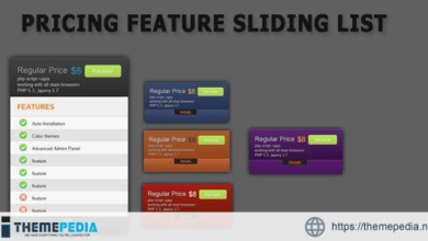 Pricing Sliding blocks – [Free Codecanyon Script download]