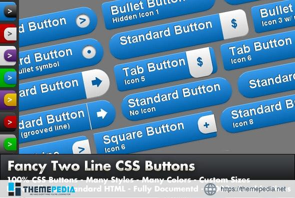 Fancy 2 Line CSS Buttons – [100% Nulled Script]