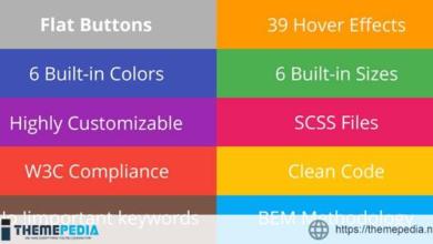 Flat Buttons – Modern & Multipurpose Options – [Codecanyon Scripts]