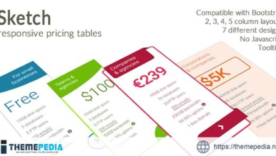 Sketch – Responsive Pricing Tables – [Free Download]