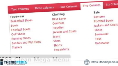 CSS3 Clean Mega Menu – [100% Nulled Script]