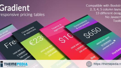 Gradient – Responsive Pricing Tables – [Free Download]