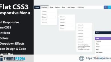 Flat CSS3 Responsive Menu – [Free Download]