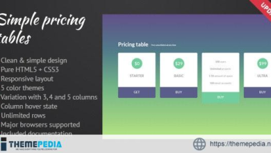Simple Pricing Tables – [100% Nulled Script]