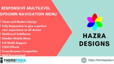 CSS3 Responsive MultiLevel DropDown Navigation Menu – [Codecanyon Scripts]