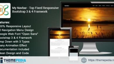 My Navbar – Top Fixed Bootstrap 3 & 4 Framework – [Codecanyon Scripts]