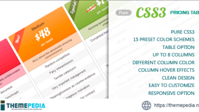 Pure CSS3 Pricing Table – [100% Nulled Script]